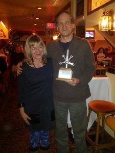 2013 Outstanding Performance on a Brevet recipient David Pearson with Kathy Brouse